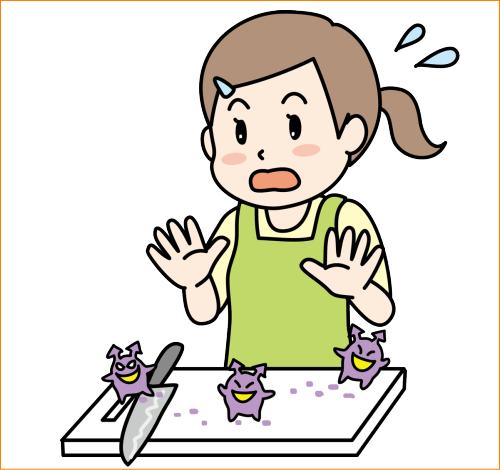 食中毒の予防は調理器具の点検も